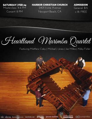 7th Series: Heartland Marimba Quartet | February 2018 | Newpor Beach, CA