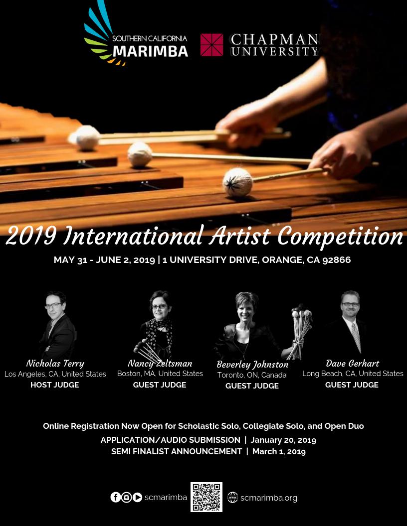 2019 international artist competition